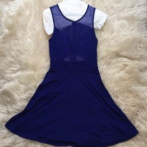 Blue Mesh and Cutout Urban Outfitters Dress
